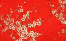 Chinese brocade patterns of branches, cherry flowers