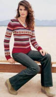 Fairisle Pattern Stripe Sweater 100% lambswool. Sizes 8 - 20 943-057-X36 �24.99. Moleskin Trousers 98% cotton 2% Lycra� elastane. Regular 6R - 20R, Long 8L - 20L, Extra Long 8XL - 18XL, 948-017-X36 �36.99. Featured Accessories Silver Coloured Double Circle Cord Necklace �4.99.