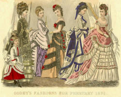 Typical fashion plate from Godey 1874.