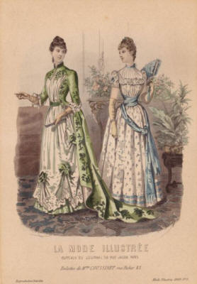 La Mode Illustr�e Fashion Plate 1889