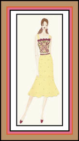 Fashion Drawing by Ishleen Sawhney of Delhi