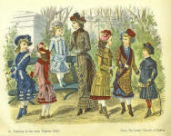 1881 Fashion plate with children