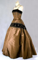 Vintage 50's copper evening gown by the New York fashion house of Goth� from vintagetextile.com.