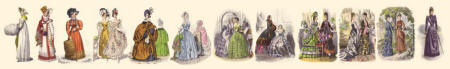 Women's Fashions and Fashion Plates 1800 - 1900. SAcroll further to see individual thumbnails. Each image enlarges to A4 size.