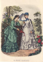 Reproduction Fashion Plate from La Mode Illustr�e. Artist Ana�s Toudouze