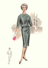 Straight Belted Dress of 1960 -1963