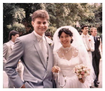 Gary and his Bride - Wedding 1984