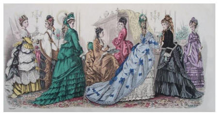 Panoramic Fashion Plate - Peterson's 1873