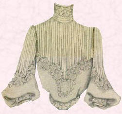 Picture of pin tuck yoked Edwardian blouse.