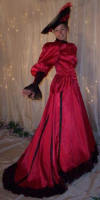 Red Fancy Satin Suit
