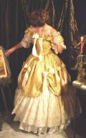 Ball Gown in Yellows