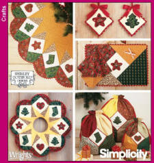 Simplicity Pattern 4414 Xmas Decor in the Home