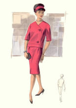 Over Blouse Two Piece Suit c1961-1965
