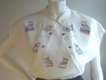 1950'S Blouse with kitten design.