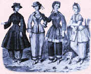 Picture of ladies wearing early/mid Victorian swimwear.