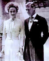 Picture of the wedding of the Duke and Duchess of Windsor.