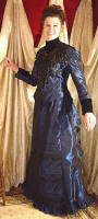 Reproduction Late Victorian Style Dress from Recollections.