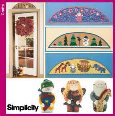 Simplicity Pattern 4423 Xmas Decor in the Home