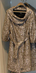 Zara brocade coat.