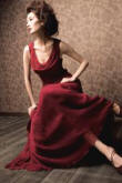Autumn Winter 2007/8 womenswear by Noli - red dress.