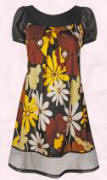 Dorothy Perkins Brown and yellow floral dress - �25/�40