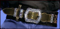 Swarovski encrusted belt from Lacroix.