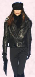 Hermes - Leather looks include biker jackets which are multi zipper trimmed garments