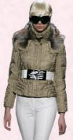 Byblos Taupe Quilted Jacket - 2007 Fashion History.