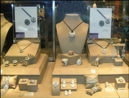 Diamonds on display in Hong Kong 2007