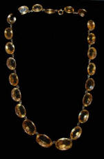 Antique Edwardian Citrine Necklace Collier