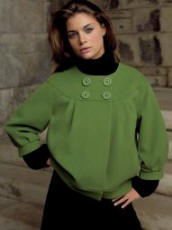 Debenhams - J Taylor green jacket �70/�109, Red Herring roll neck dress �25/�39.