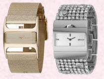 Cuff watches from DKNY.