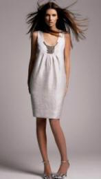 The silver cocoon dress from the Nouveau range at Principles
