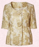 Gold brocade jacket Dorothy Perkins.
