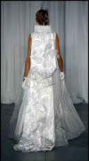 Swarovski white dress by Ir Rodarte.