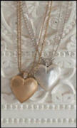 These gold and silver hearts are from Plumo online.