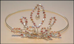 Pearls Plus - This dainty bridal tiara is one of Marilyn's designs using Swarovski crystal and freshwater pearls. Tiaras and hair ornaments can be made to co-ordinate with the bridal colour scheme.