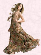 Floral print maxi dress at Miss Selfridge Spring Summer 2007