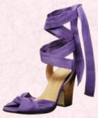Purple shoes with ties from Dorothy Perkins.