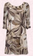 Mink multi silk sleeved print tunic with beads �60/�99 is from Wallis Spring/Summer 2007.