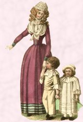 1791 Woman with children - costume history.