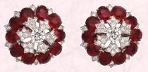 These Carmago earrings are from Van Cleef & Arpels Ballet Pr�cieux - they have diamonds and 20 oval-cut Burmese rubies � 23.27 cts.