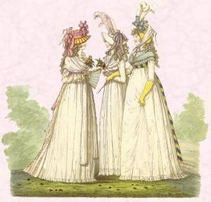 Right - Post French Revolution simplified dress - Full skirt raised ...