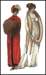 Fur Muff and Tippet - 1804 Fashion History Accessory