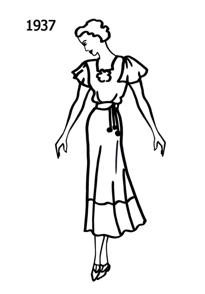 Line Art Fashion : Costume history silhouettes  free line drawings