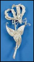 Gift of Flame Lily Brooch Rhodesia 1947.