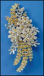 Gift to Queen from Australia - Wattle diamond brooch