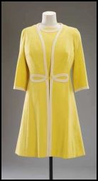 1970 The Queen's daywear fashion working wardrobe - Australia Day mimosa yellow dress and coat