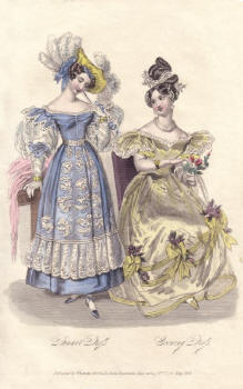 Hand Coloured Engraving 1831 La Belle Assemblée