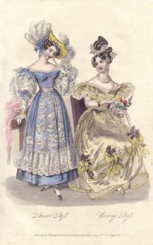 Hand Coloured Engraving 1831 La Belle Assemblée